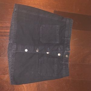 Bershka jeans Size 6 mini skirt with buttons